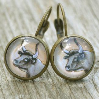 Boucles d'oreilles Taureau